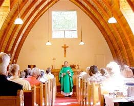 A homily at St. Gerard's church, Bowen Island, Canada. Roman Izdebski photo.