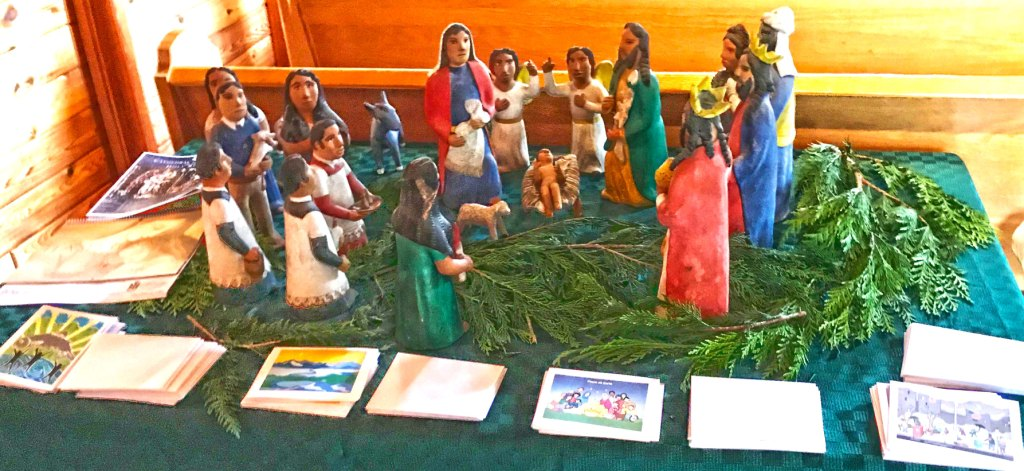 Generously donated Nativity scene from Mexico