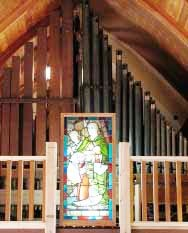 The organ pipes. The organ was donated to St. Gerard's in memory of David Grant Startup. It was restored by Sigurd and Monica Sabathil. Suzanna Wright photo.