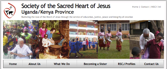 Uganda-Kenya website, Religious of the Sacred Heart